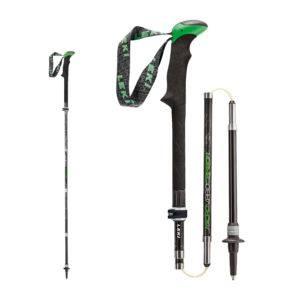 Il bastone Leki Micro Vario Carbon AS è ripiegabile fino ad un ingombro di 40 cm.