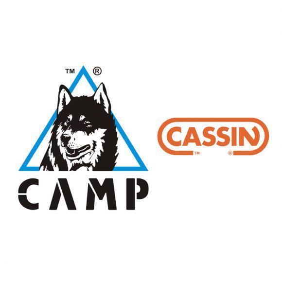 I loghi di Camp e Cassin aziende lombarde di outdooor