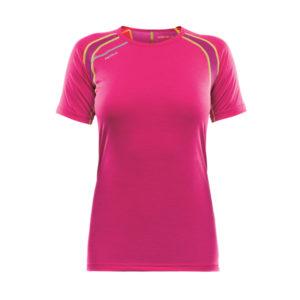 La maglia intima Devold Energy T-shirt da donna in colore fucksia