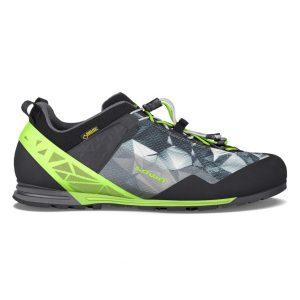 Veduta laterale della scarpa da avvicinamento Lowa APPROACH PRO GTX® LO nei colori nero/verde