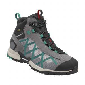 La scarpa Garmont Mystic Mid Surround nella versione verde/grigio