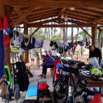 Nella foto il camping alla fine della seconda tappa del Sardinia Divide (www.sardiniadivide.com) di settembre 2016. Foto di Amos Cardia