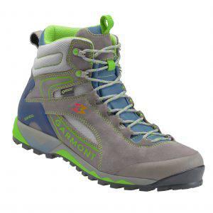 la versione antracite/verde dello scarpone da hiking Garmont Tower Hike gtx