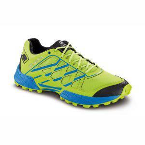 Scarpa Neutron da trail running, colore Lime Azure