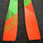 Dettaglio della coda dello sci Elan Rip Stick 96