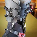 Dettaglio del sistema di allacciatura dello scarpone La Sportiva Raceborg Carbon