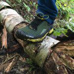 Negli impatti con rocce e tronchi la scarpa si rivela protettiva