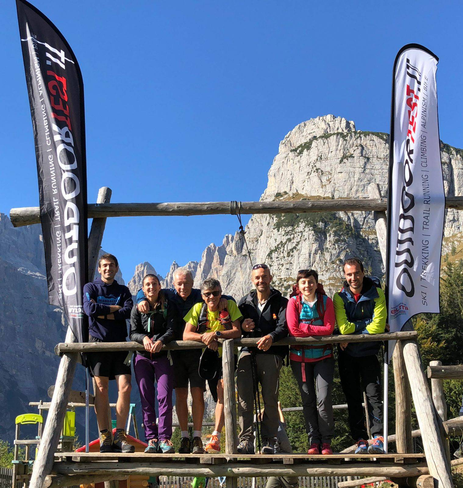 """Il Tester Team """"estate 2019"""", lo scorso ottobre in Dolomiti Paganella"""