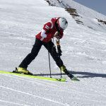 Best of Test 2018 by Rentandgo in Val Senenals, Valentina Porro si concentra in pista