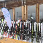 Best of Test 2018 by Rentandgo in Val Senenals, una parte del parco sci: 106 paia a disposizione