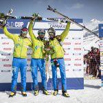 Team SCARPA Skimo - 1° Antonioli e 3° Eydallin (foto Riccardo Selvatico)