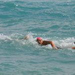 Cecilia Canneva, in una gara di triathlon