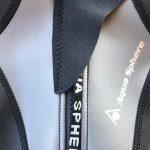 Dettaglio della chiusura della muta Aquaskin Full Suit di Aqua Sphere
