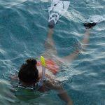 Cecilia Canneva durante il test di Aqua Lung Reveal X2 maschera + Zephir aeratore + Aqua Lung Hot Shot pinne
