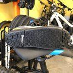 La suola Michelin appositamente studiata per la Shimano GR9 e per i pedali flat