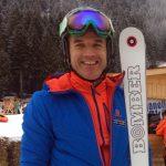 Kurt Ladstëtter, ex azzurro dello sci, direttore di Rent and go, in pista