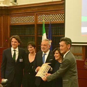Da sinistra Matteo Bramani, Simona Montemari, Luigi Nicolais, Luigi Nicolais, Maria Elisabetta Alberti Casellati Presidente del Senato,Masaya Hashimoto