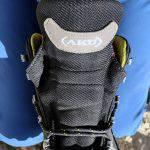 Il linguettone anteriore dello scarpone Aku Trekker Lite III Gtx