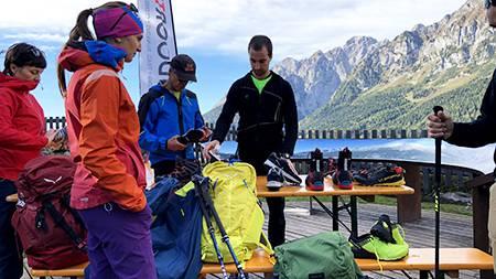 Testando i nuovi prodotti al rifugio Montanara di Molveno