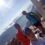 Valentina, Enzo e Alessandro sulla cima del Croz de l'Altissimo