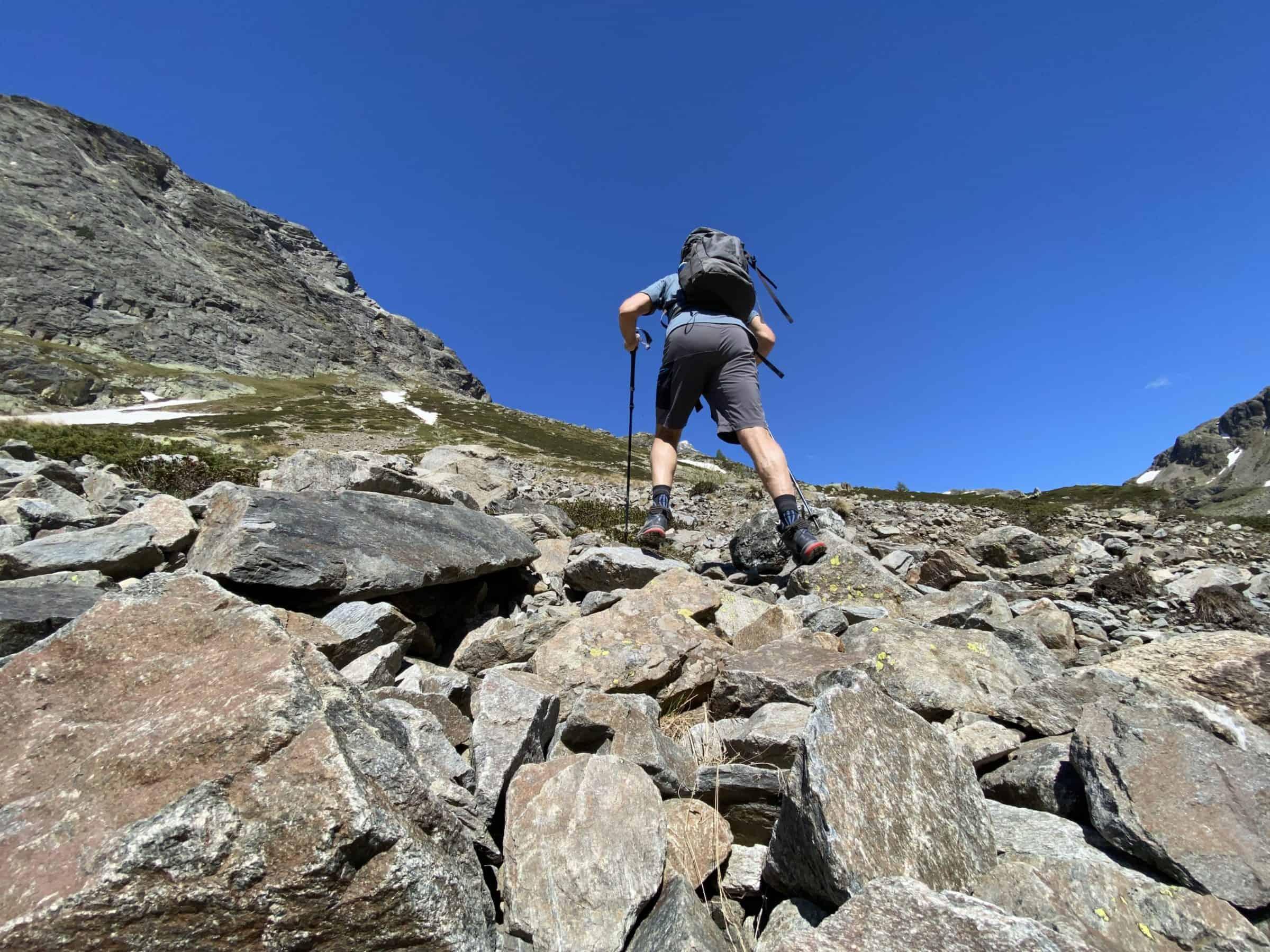 Molto lavoro su rocce e terreno duro per verificare l'ammortizzamento