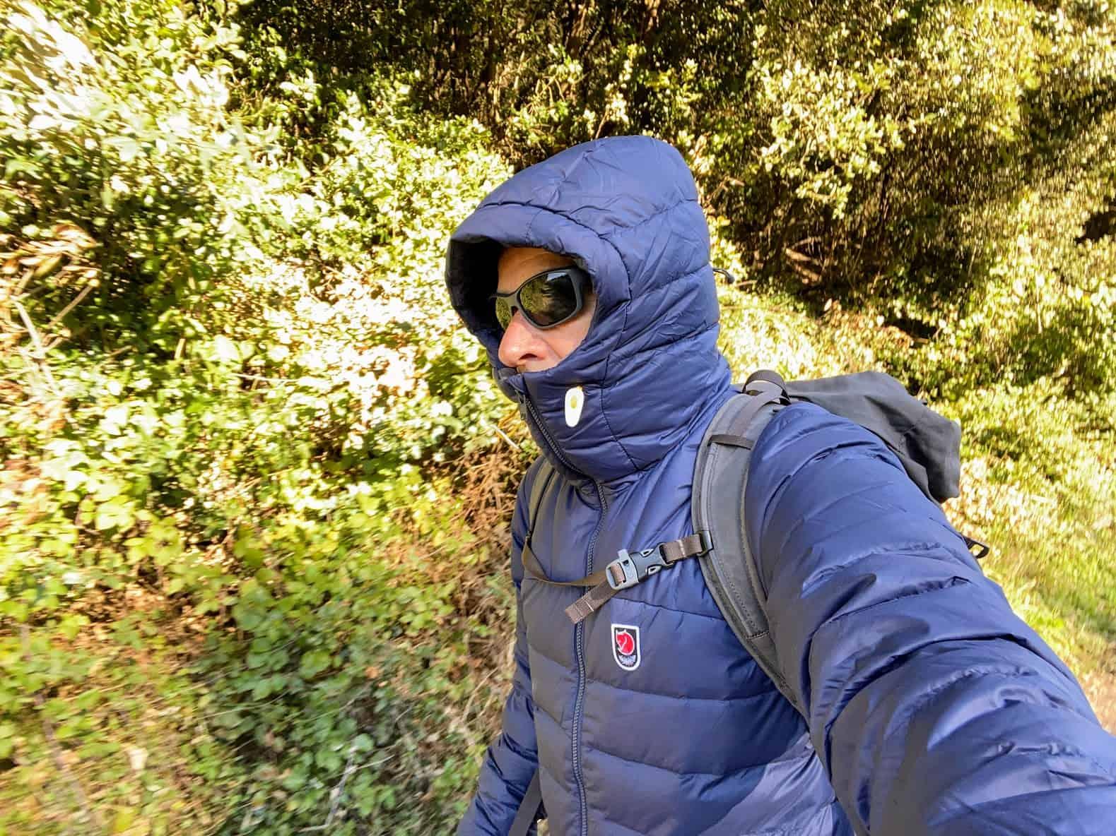 Il cappuccio della Expedition Pack Down Hoodie