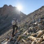 Osprey Tempest Pro in azione su pietraia