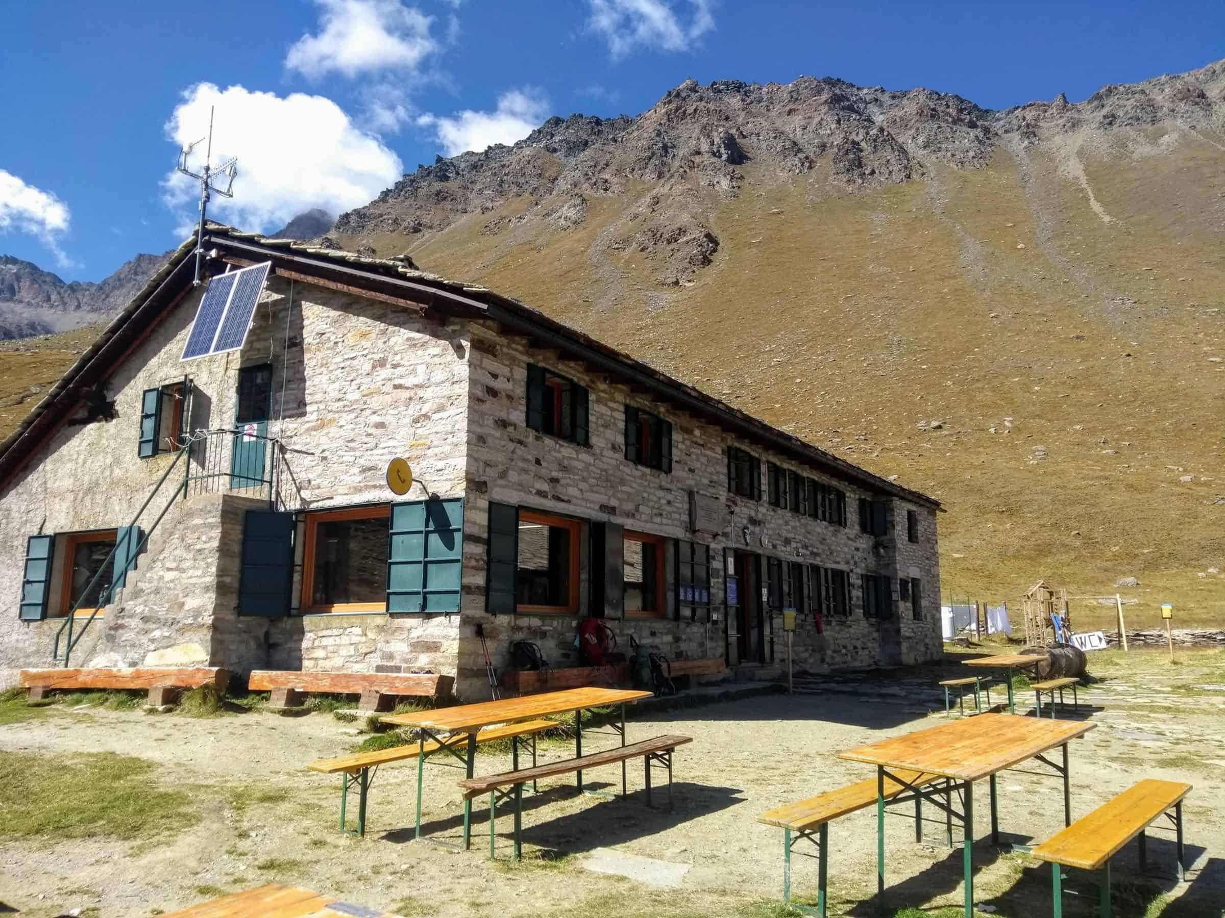 Rifugio Vittorio Sella in Valle d'Aosta