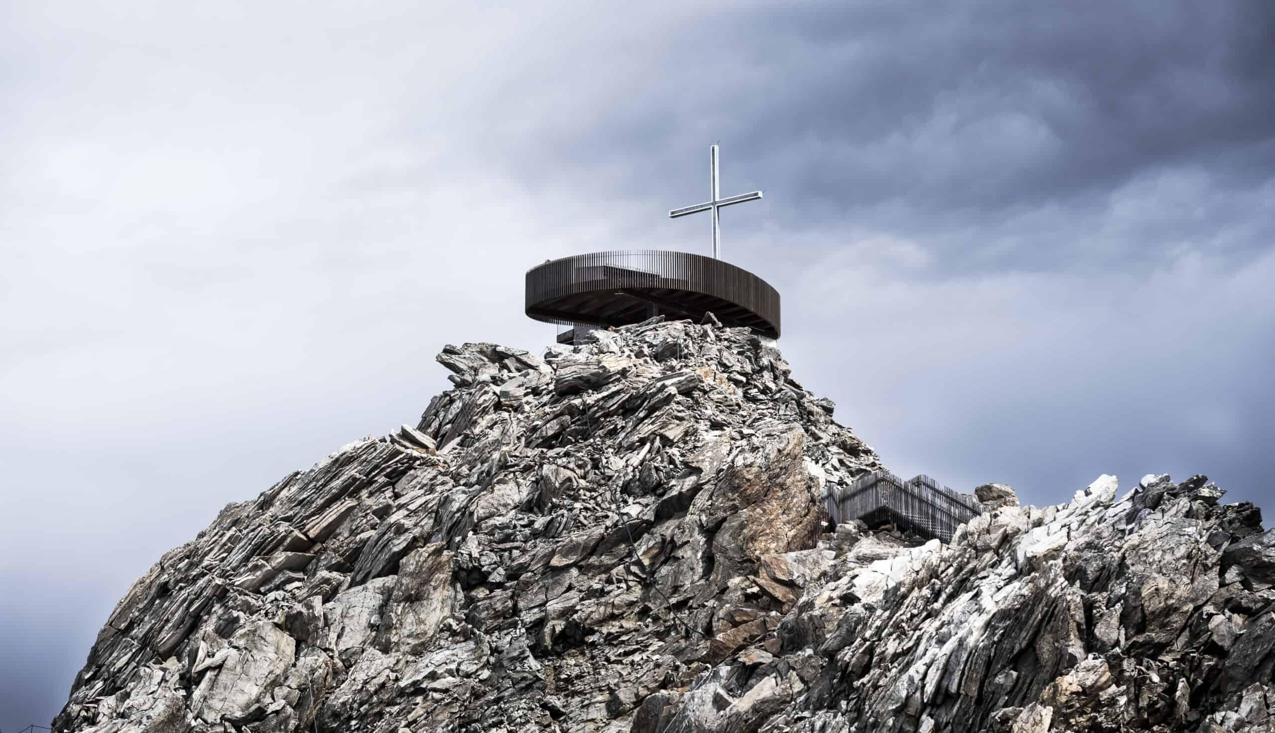 Arte al ghiacciaio della Val Senales in Alto Adige - piattaforma