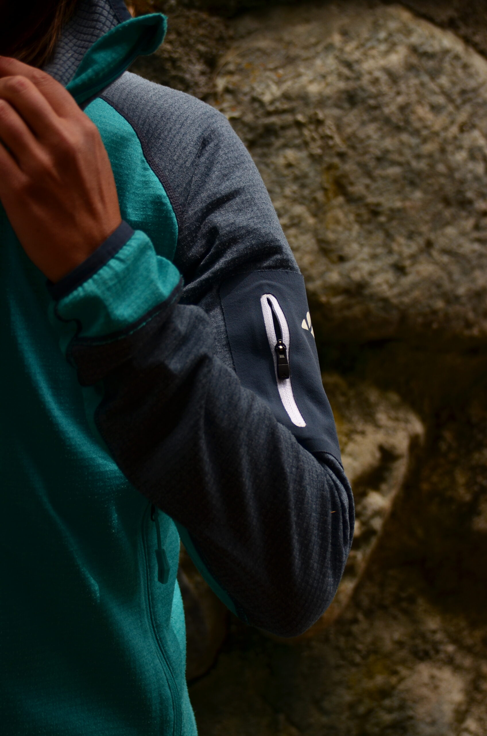 Vaude Women's Back Bowl Fleece Jacket II - taschino manica