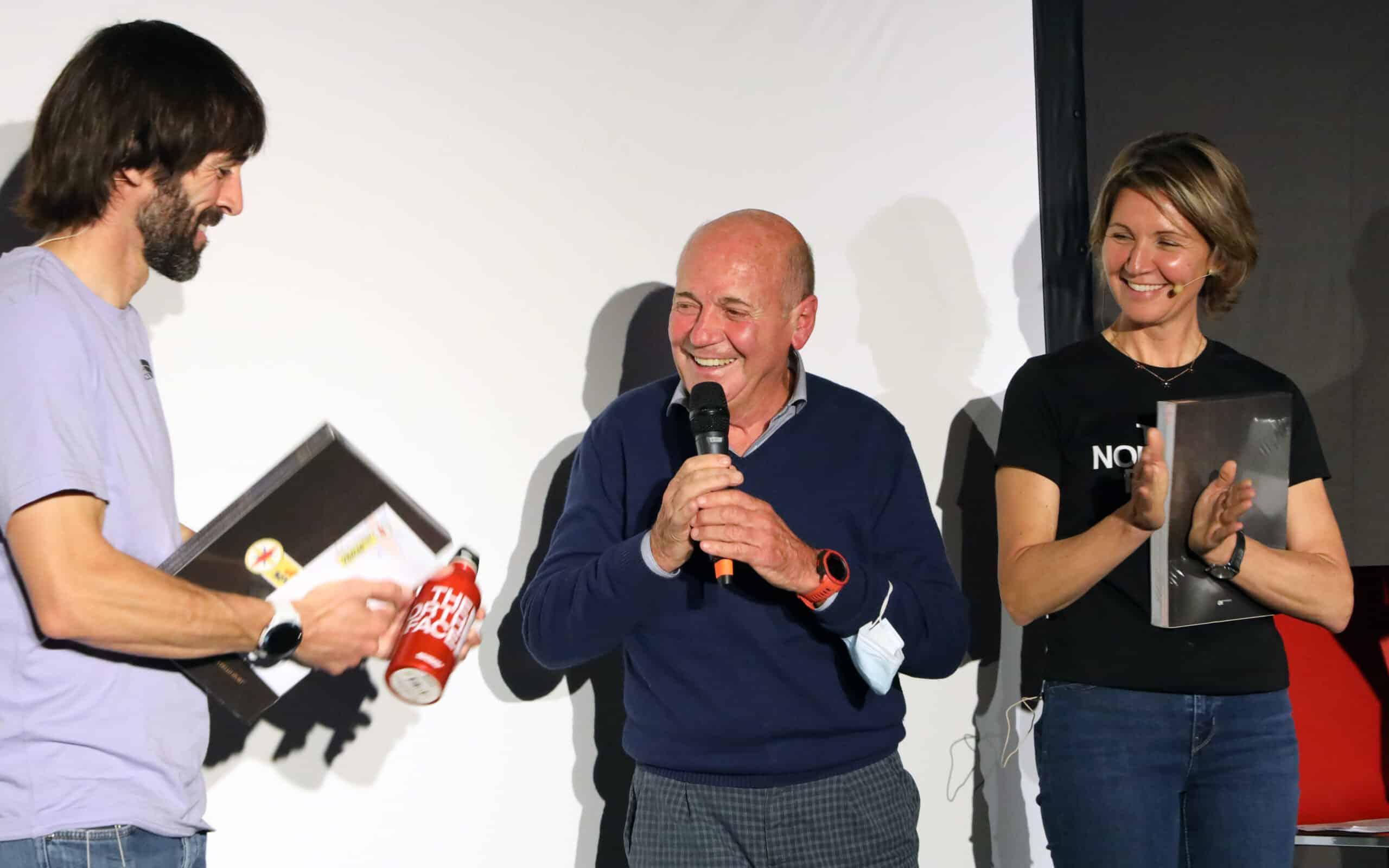 Da sinistra: Hervé Barmasse, Sergio Longoni e Elisa Calcamuggi